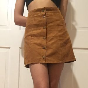 Skirts - Faux suede skirts